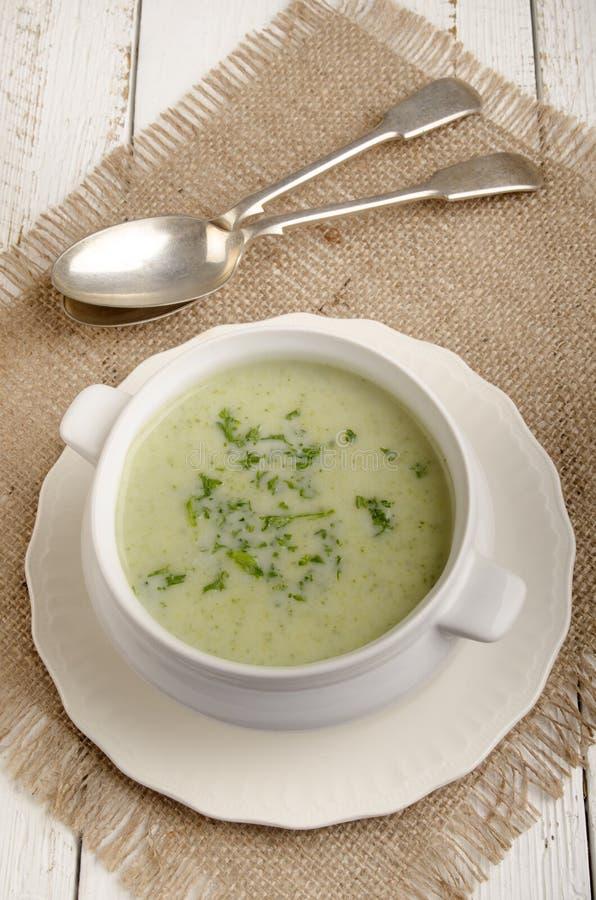 Σούπα κρέμας μπρόκολου με το μαϊντανό στοκ φωτογραφία με δικαίωμα ελεύθερης χρήσης