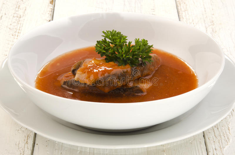 Σούπα κυπρίνων με το μαϊντανό στοκ εικόνες