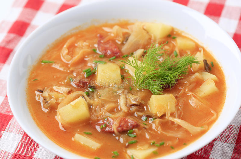 σούπα λάχανων στοκ φωτογραφία