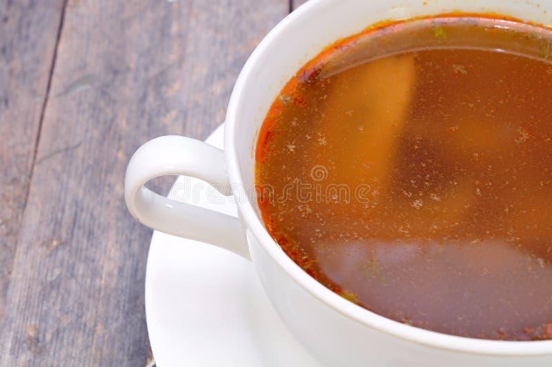 Σούπα μανιταριών στοκ εικόνες