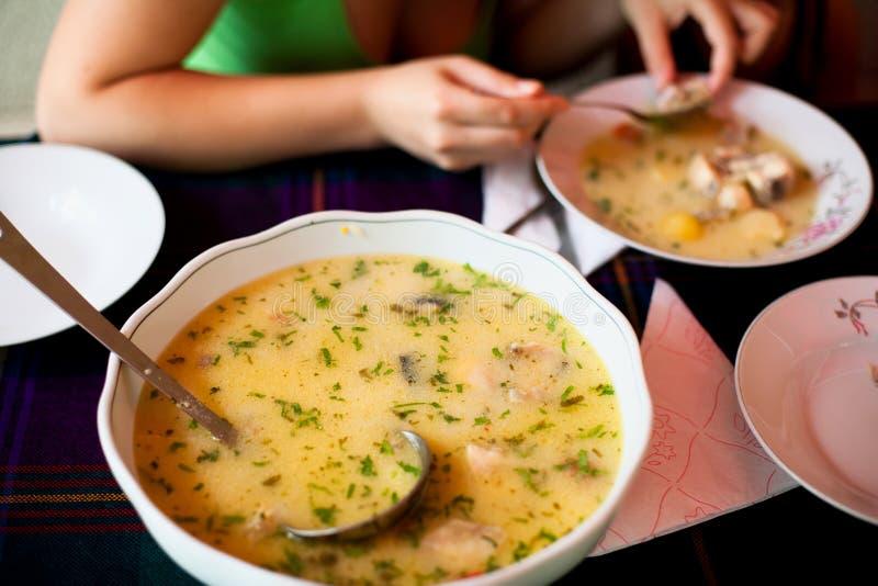 σούπα μεσημεριανού γεύματος στοκ φωτογραφία με δικαίωμα ελεύθερης χρήσης