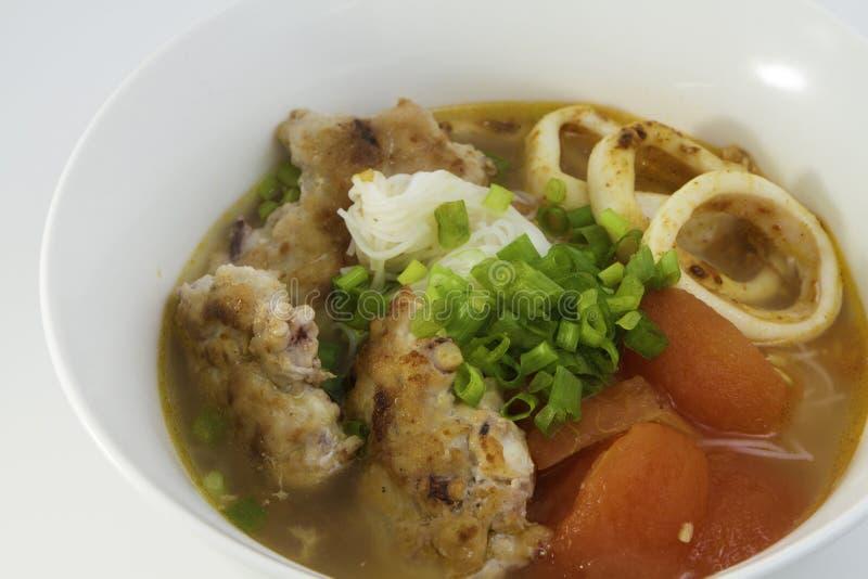 Σούπα νουντλς καλαμαριών στοκ εικόνα με δικαίωμα ελεύθερης χρήσης