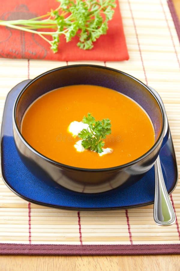 Σούπα ντοματών και κόκκινων πιπεριών στοκ εικόνες με δικαίωμα ελεύθερης χρήσης
