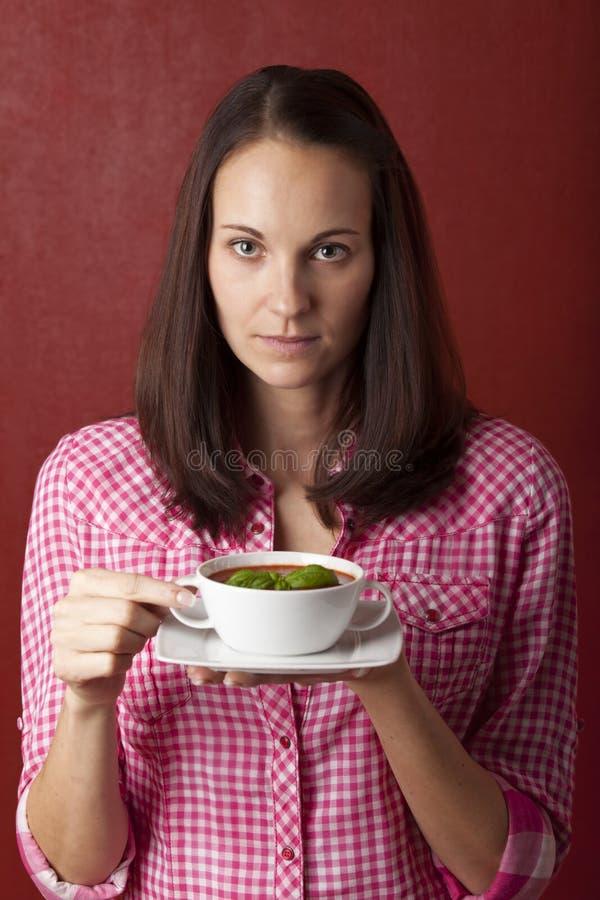 σούπα ντοματών στοκ εικόνες με δικαίωμα ελεύθερης χρήσης