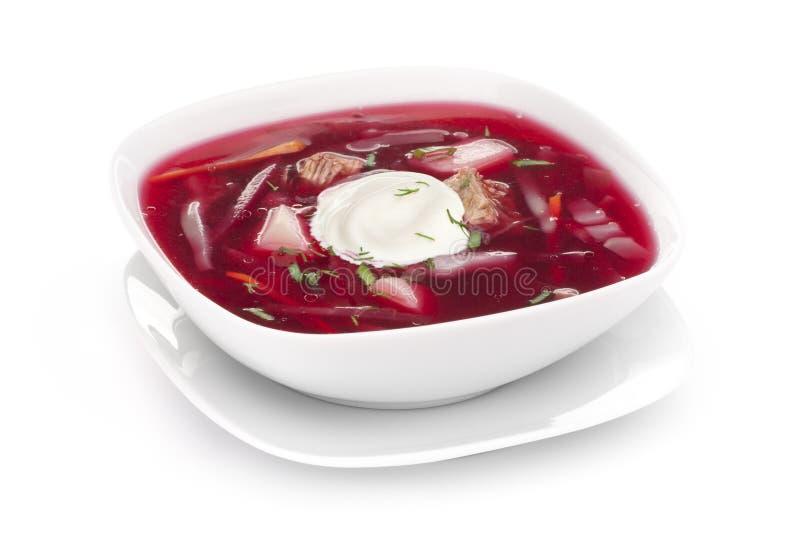 Σούπα παντζαριών Borscht στοκ εικόνες