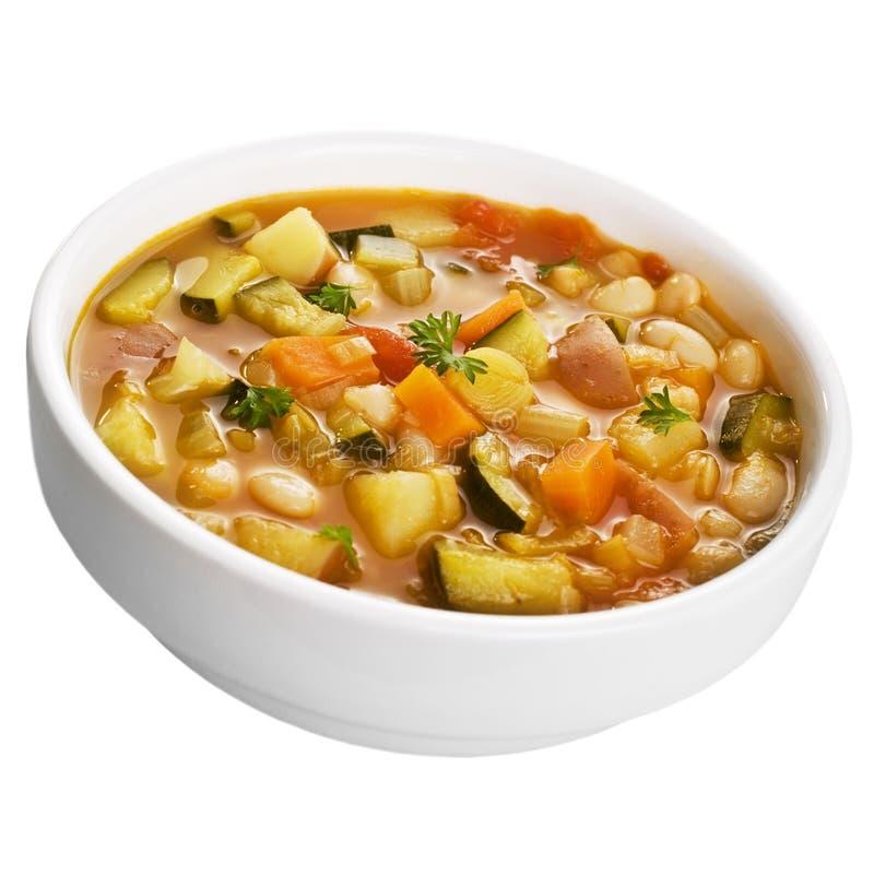 Σούπα που απομονώνεται φυτική στο λευκό στοκ φωτογραφία με δικαίωμα ελεύθερης χρήσης