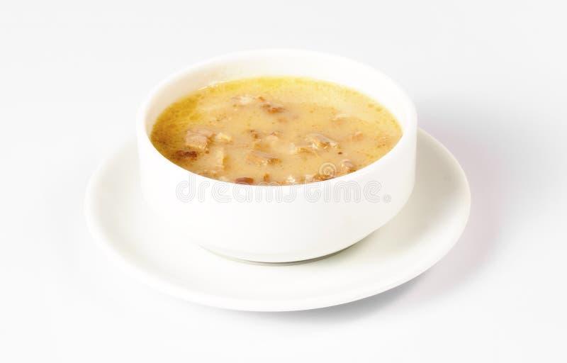 Σούπα ποδιών αρνιού, παραδοσιακή τουρκική σούπα σε ένα άσπρο κύπελλο στοκ φωτογραφίες με δικαίωμα ελεύθερης χρήσης