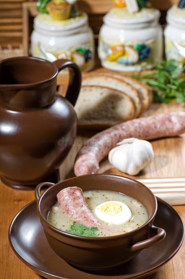 σούπα σίκαλης στοκ εικόνα με δικαίωμα ελεύθερης χρήσης