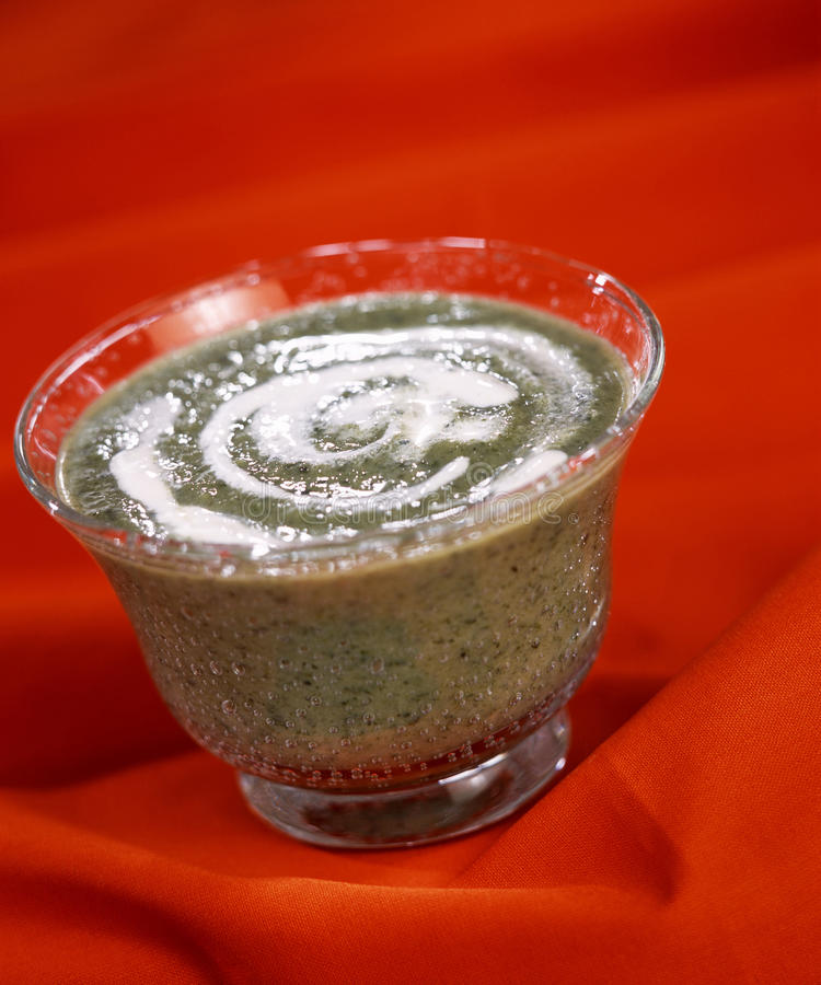 σούπα σαλάτας κρέμας καλαμποκιού στοκ φωτογραφία με δικαίωμα ελεύθερης χρήσης