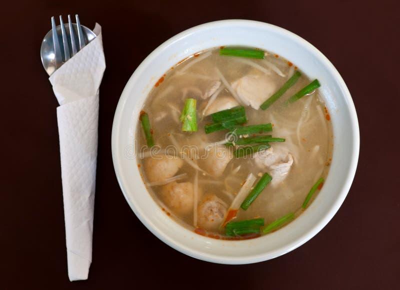 σούπα Ταϊλανδός κρέατος π&iota στοκ εικόνες