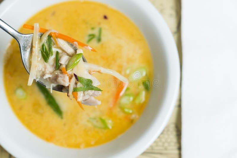 Σούπα του Tom Kha Gai στοκ εικόνες