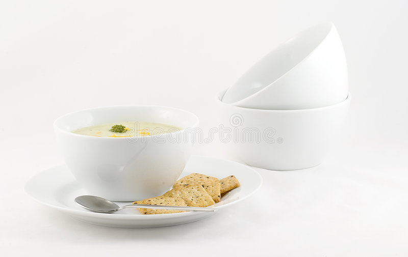 σούπα τυριών μπρόκολου στοκ εικόνες