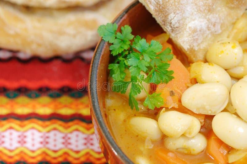 σούπα φασολιών παραδοσι& στοκ εικόνα