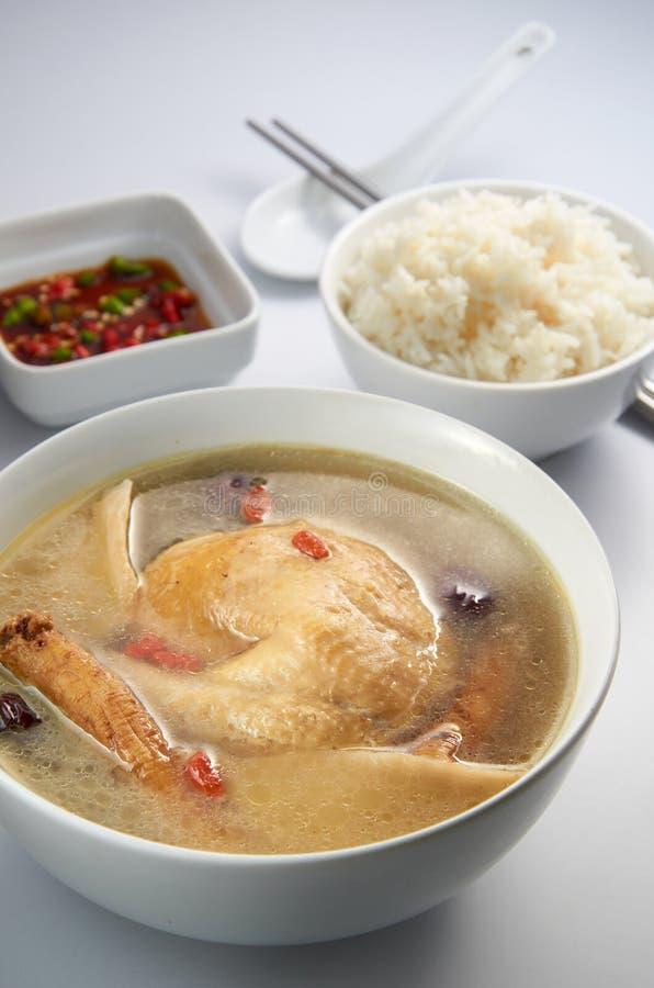σούπα χορταριών κοτόπουλ& στοκ εικόνες