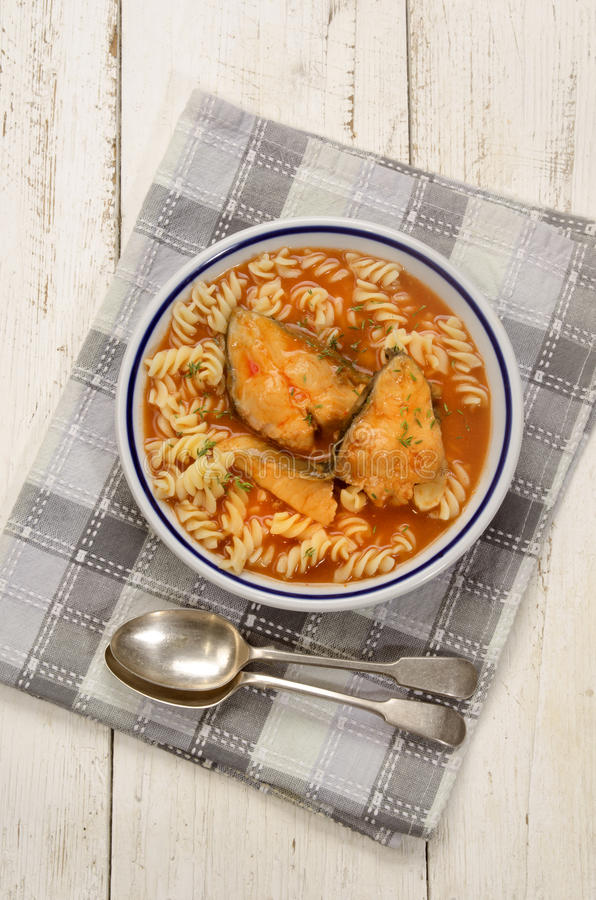 Σούπα ψαριών κυπρίνων με το νουντλς στοκ εικόνες με δικαίωμα ελεύθερης χρήσης