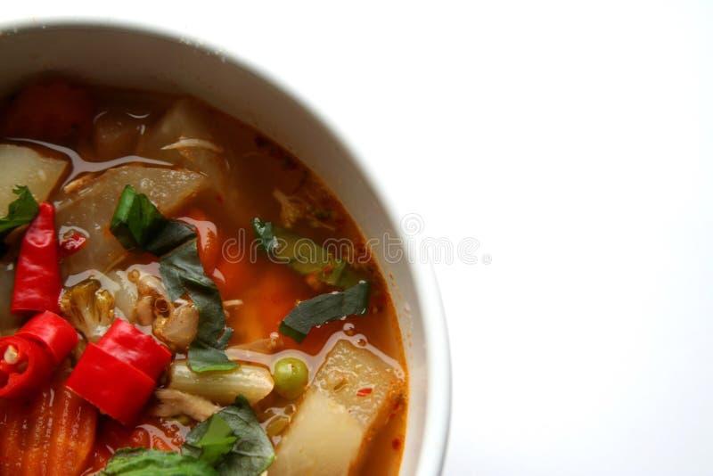 σούπα ψυχής κοτόπουλου στοκ φωτογραφίες