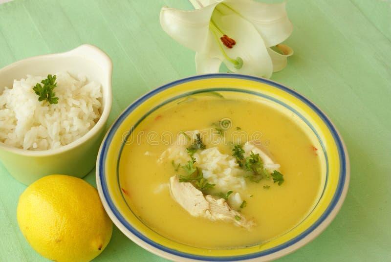σούπα avgolemono στοκ εικόνες με δικαίωμα ελεύθερης χρήσης
