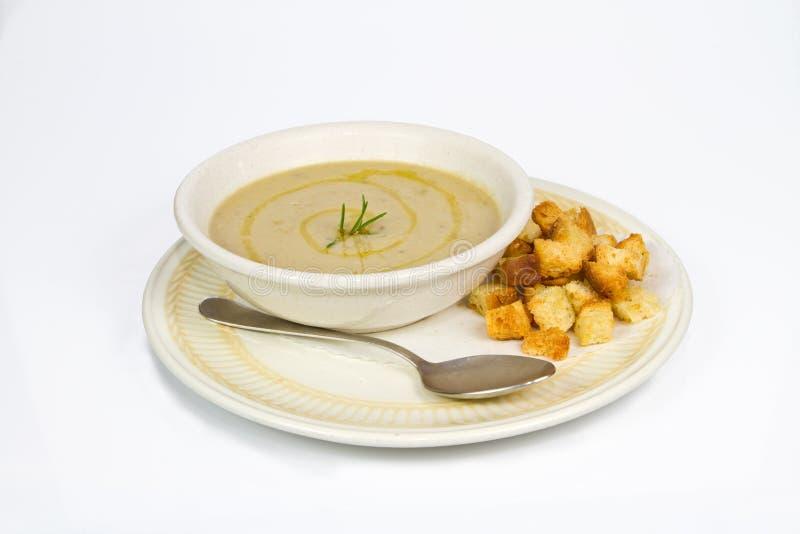 Σούπα chickpeas και των κάστανων στοκ εικόνες