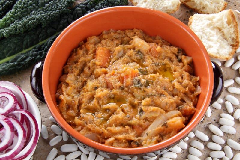 σούπα ribollita ψωμιού στοκ εικόνες