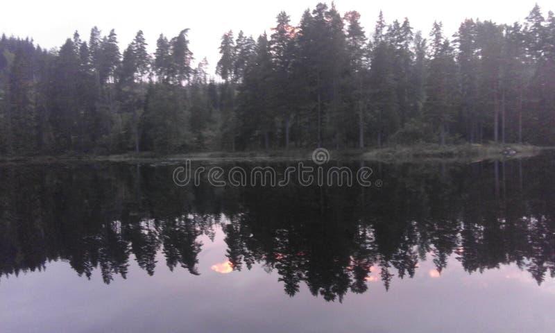 Σούρουπο ουρανού της Σουηδίας στοκ φωτογραφία με δικαίωμα ελεύθερης χρήσης