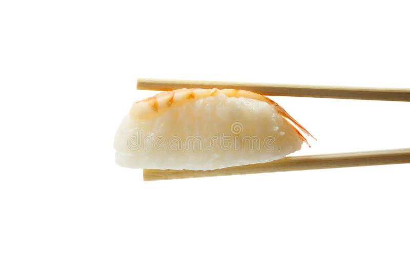 Σούσια chopsticks που απομονώνονται στο άσπρο υπόβαθρο στοκ εικόνες