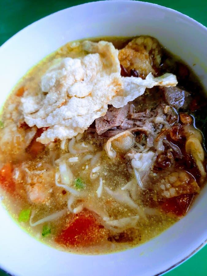 Σούτο, παραδοσιακή ινδονησιακή σούπα στοκ εικόνες με δικαίωμα ελεύθερης χρήσης