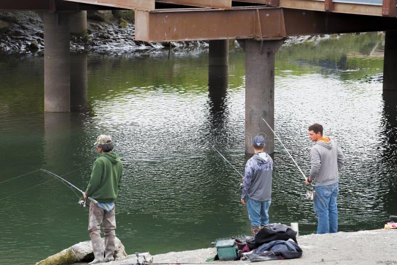 Σολομός που αλιεύει στο Anchorage Αλάσκα στοκ εικόνα με δικαίωμα ελεύθερης χρήσης