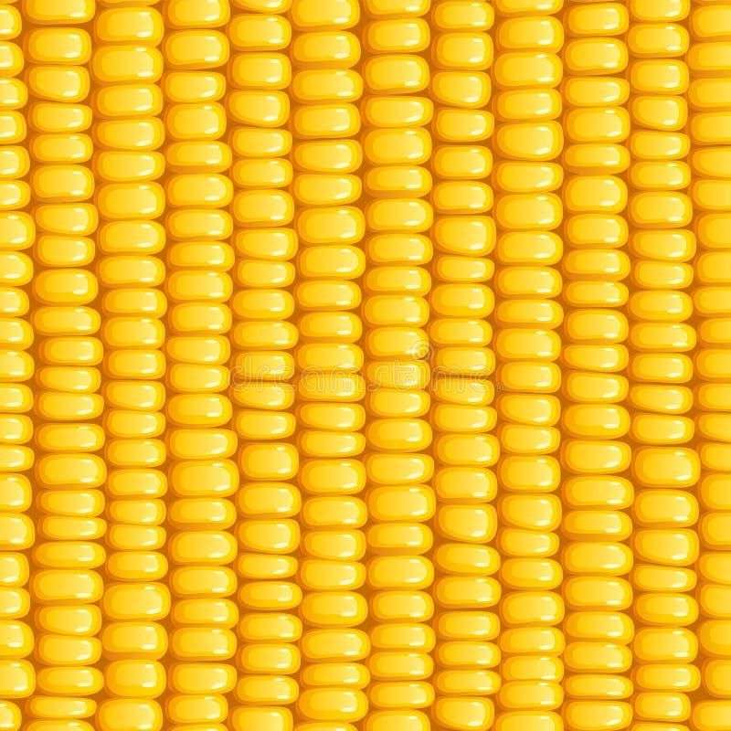 Σπάδικας καλαμποκιού Άνευ ραφής σχέδιο οργανικής τροφής ελεύθερη απεικόνιση δικαιώματος