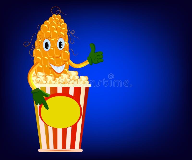 Σπάδικας καλαμποκιού και popcorn διανυσματική απεικόνιση