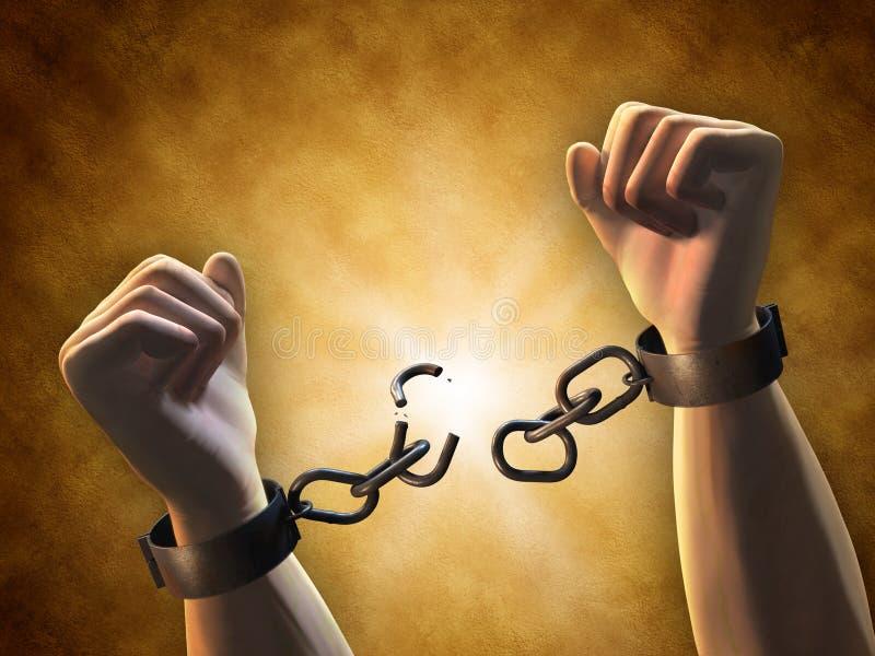 σπάζοντας αλυσίδες ελεύθερη απεικόνιση δικαιώματος