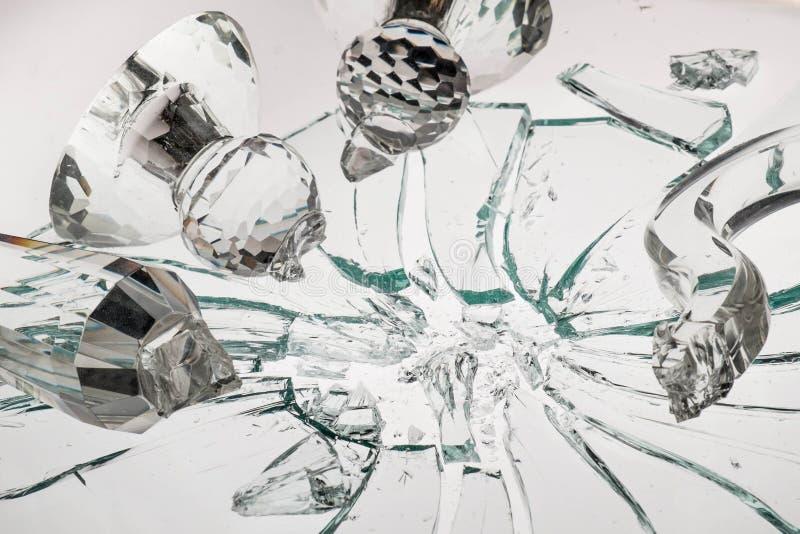 Σπάζοντας κρύσταλλο στοκ εικόνες