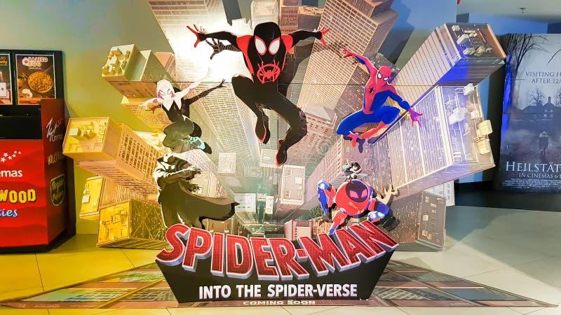 Σπάιντερμαν: Στον αράχνη-στίχο στοκ εικόνες με δικαίωμα ελεύθερης χρήσης