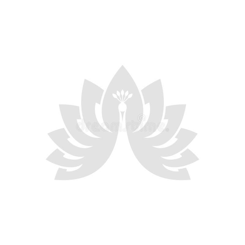 σπάνιο λευκό peacock πουλιών καλό Αφηρημένο πουλί ελεύθερη απεικόνιση δικαιώματος