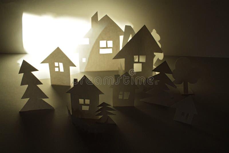 Σπίτια εγγράφου στοκ φωτογραφία με δικαίωμα ελεύθερης χρήσης
