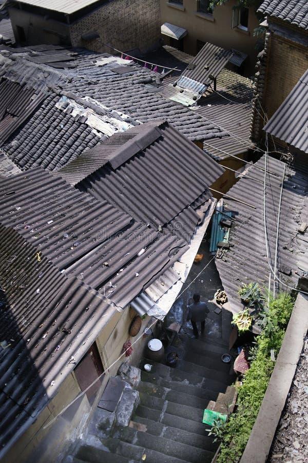 Σπίτια εξοχικών σπιτιών Chongqing στοκ εικόνες