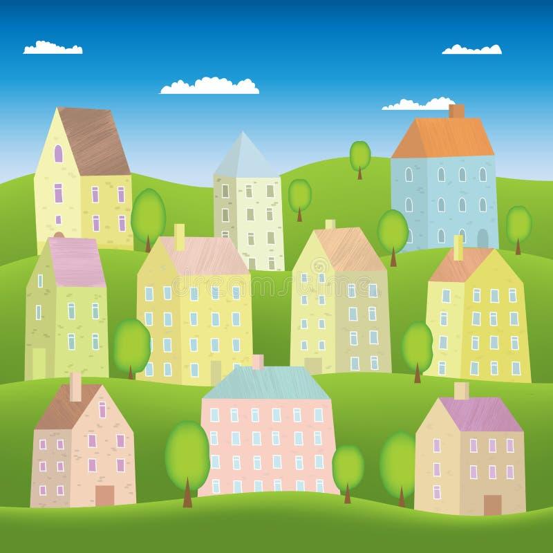 Σπίτια κινούμενων σχεδίων διανυσματική απεικόνιση