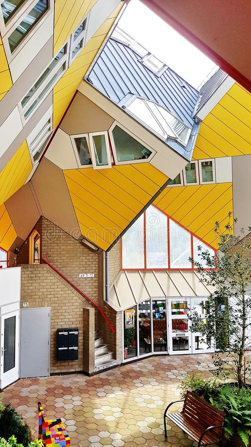 Σπίτια κύβων στο Ρότερνταμ στοκ φωτογραφία
