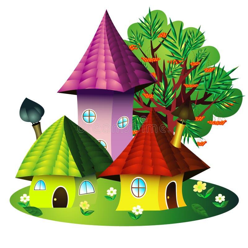 σπίτια νεράιδων απεικόνιση αποθεμάτων