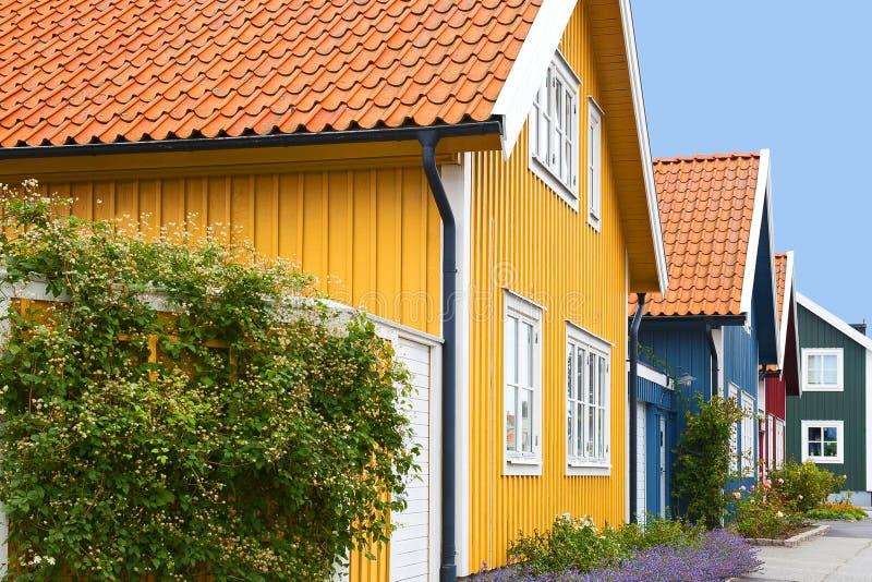 σπίτια ξύλινα στοκ εικόνες