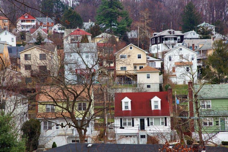 σπίτια προαστιακά στοκ εικόνα με δικαίωμα ελεύθερης χρήσης
