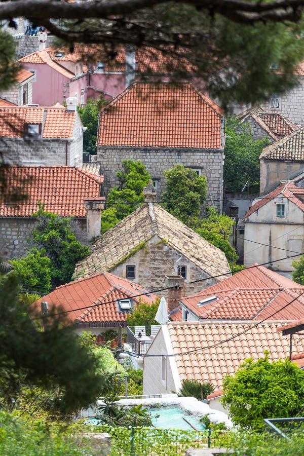 Σπίτια σε Cavtat, Dubrovnik στοκ φωτογραφίες