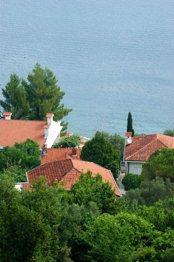 Σπίτια σε Njivice στοκ εικόνα