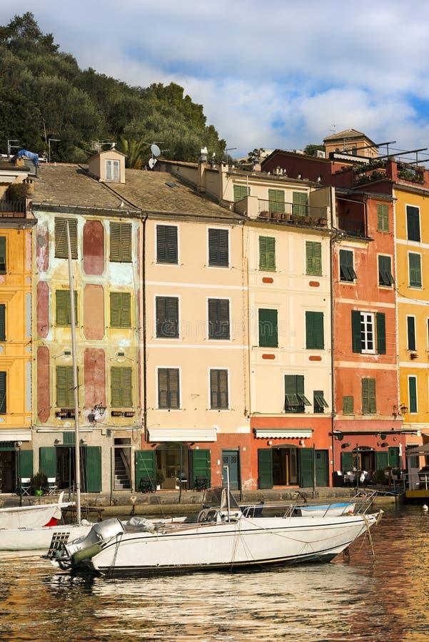 Σπίτια σε Portofino - Λιγυρία Ιταλία στοκ φωτογραφίες