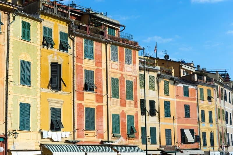 Σπίτια σε Portofino - Λιγυρία Ιταλία στοκ εικόνα με δικαίωμα ελεύθερης χρήσης
