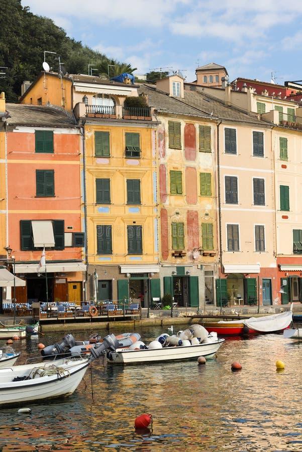Σπίτια σε Portofino - Λιγυρία Ιταλία στοκ εικόνες