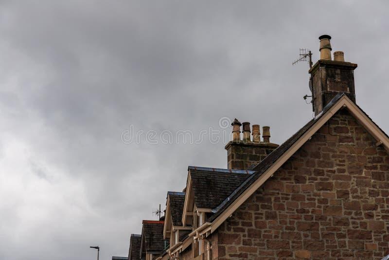 σπίτια σκωτσέζικα στοκ φωτογραφία