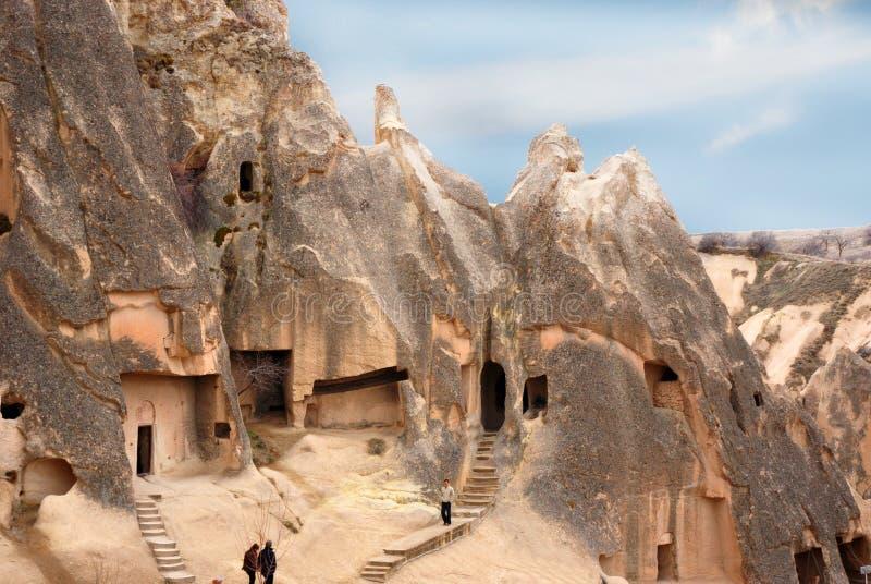 Σπίτια σπηλιών σε Cappadocia, Τουρκία στοκ εικόνες με δικαίωμα ελεύθερης χρήσης