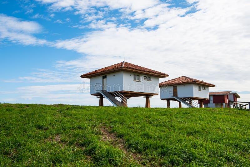 Σπίτια στη βόρεια Ισπανία στοκ εικόνα με δικαίωμα ελεύθερης χρήσης