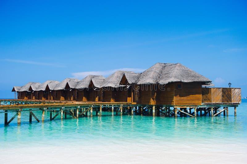 Σπίτια στον ωκεανό - Μαλδίβες στοκ φωτογραφίες με δικαίωμα ελεύθερης χρήσης
