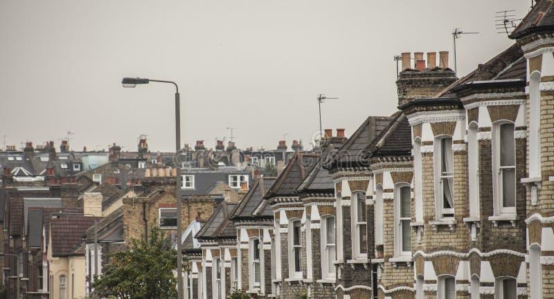 Σπίτια στο Λονδίνο στοκ φωτογραφία